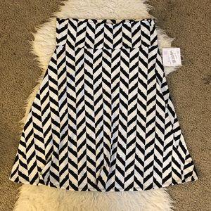NWT LuLaRoe Azure white black chevron skirt